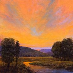 6 x 6 oil on linen by Mikel Wintermantel, Copley Master - Luminous Landscape Paintings