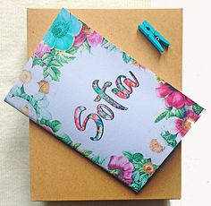 A personal favourite from my Etsy shop https://www.etsy.com/listing/518464569/personalized-floral-colorful-handmade