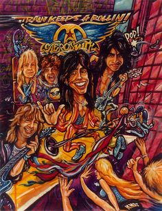 Here is an illustration I did for Screamer Magazine Circa 1989 in honor of Aerosmith s Pump Tour