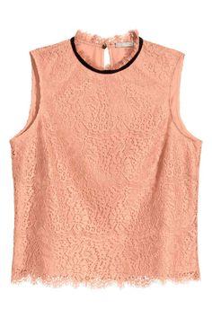 Sleeveless lace blouse | H&M