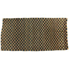 Antique Tibetan Checkerboard Rug | From a unique collection of antique and modern chinese and east asian rugs at https://www.1stdibs.com/furniture/rugs-carpets/chinese-rugs/