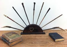 HP - Ollivander's Wand Display So I see this and think: oh my gosh. That is how I will display my conductors batons!