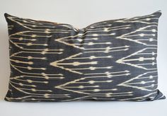 Sukan / Hand Woven Original Organic, Lumbar Silk ikat Pillow