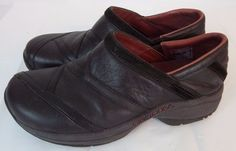 Merrell Women Slip On Brown Loafers Shoes 7 Leather Driving #Merrell #LoafersMoccasins