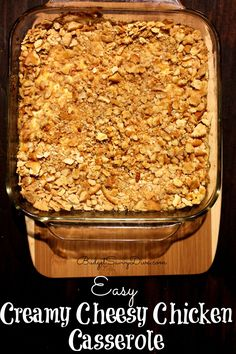 Super Easy To Make - if you like cheese and chicken then this is your recipe dinner on a budget Easy Creamy Cheesy Chicken Casserole Recipe Cheesy Chicken Casserole, Casserole Dishes, Casserole Recipes, Hamburger Casserole, Broccoli Casserole, Ritz Cracker Chicken Casserole, Chicken Enchiladas, Ritz Crackers, All You Need Is