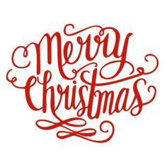 Silhouette Design Store - View Design #162355: merry christmas handlettering title