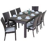 Found it at AllModern - Deco 9 Piece Dining Set with Cushions