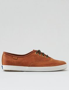 Keds Champion Burnished Leather, Cognac | American Eagle Outfitters