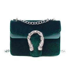 b7f184ee0a38 Velvet Flap Shoulder Crossbody Bag Fashion Brand