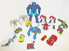 17 LOT OF TRANSFORMERS FIGURES STAR-SCREAM MEGATRON DRIFT KEYCHAIN ETC USED #Mixed