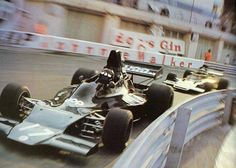Jackie Oliver (Shadow) & Ronnie Peterson (Lotus) - Monte Carlo, Monaco Grand Prix - 1973