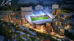The new stadium being planned for Brentford. To be located on the Lionel Road, just across from Kew Bridge.