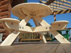 picnic table plans with 8 solo seats | Kid's Round Picnic Tables