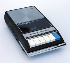 Analog Dreams • National Panasonic Portable Analogue Audio...these were like magic to us