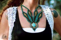 Collier macramé turquoise collier fait main par byLaughingBuddha