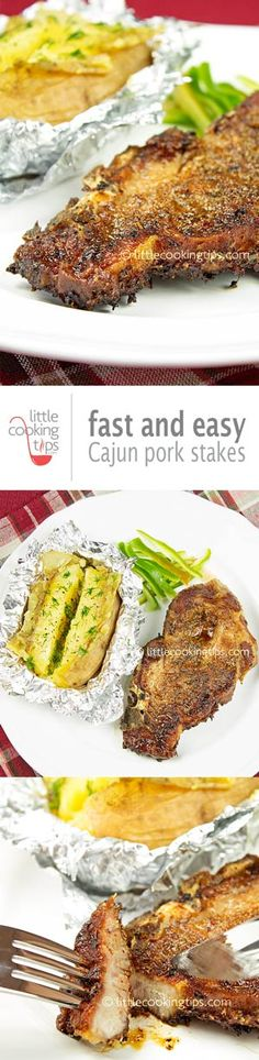 Cajun Pork Steaks