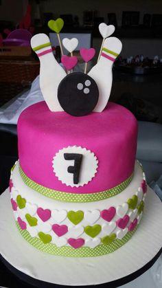 Girl bowling cake
