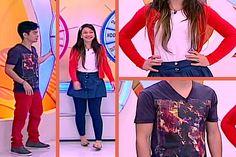 Veja looks de Yudi e Pricilla no Bom Dia e Cia