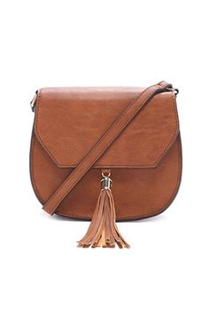 Faux Leather Saddle Crossbody | Forever 21 - 1000169698 $23