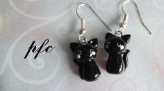 Adorable black kitten earrings- I gotta get me a pair of those!!!