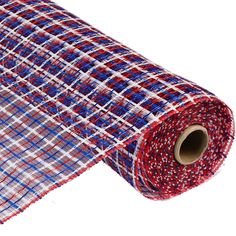 "Basket Weave Deco Poly Mesh® Color: Red, White, Blue Size: 21"" x 10 yards Material: Synthetic poly"