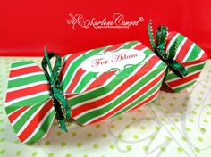 INSTANT DOWNLOAD - Printable Candy Christmas Favor Box Red & Green, Christmas Gift, Printable Box, Christmas Decoration - by Paper Art by MC on Etsy, $5.20