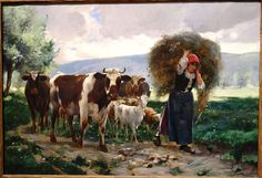 Returning Home by Julien Dupre, c. 1895, oil on canvas - Huntington Museum of…