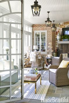 Cathy Kincaid turned the porch into an inviting extension of the sunroom.