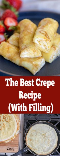This crepe has the most raving feedback, its always a hit! Its sweet, rich, filled with delicious creamy filling. this guide to make your favorite crepes in no time. Crêpe Recipe, Best Crepe Recipe, Crepes Party, Fruit Crepes, Dessert Crepes, Sweet Crepes Recipe, Crepes Filling, Delicious Desserts, Yummy Food