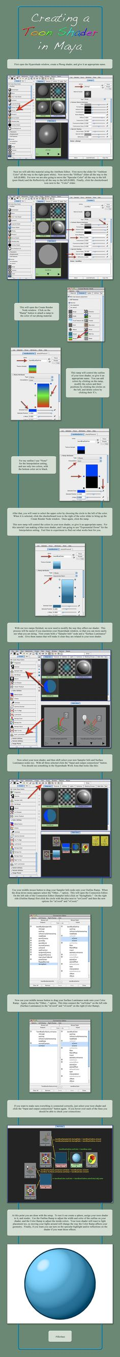 Maya Toon Shading Tutorial by Shikijiyu.deviantart.com on @deviantART