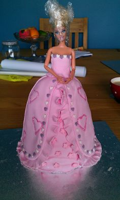 step-by-step guide to making a Barbie Cake