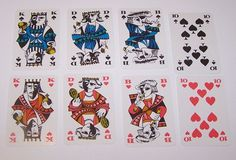 "Coeur ""Essay"" Playing Cards, Hannelore Heise Designs, c.1967 from twoforhisheels on Ruby Lane"