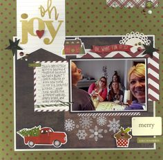Oh Joy - Scrapbook.com - Made with Simple Stories Cozy Christmas collection.