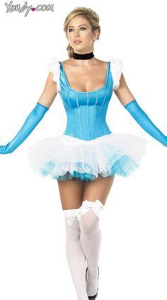 Sexy Cinder Girl Costume