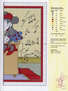 Disney - Mickeys Piano 3 cross stitch