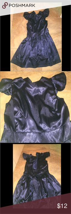 Navy blue satin dress NWOT Navy blue satin dress joseph walker Dresses