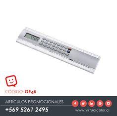 Artículos Promocionales - Productos Publicitarios - Regla 20 cm con Calculadora