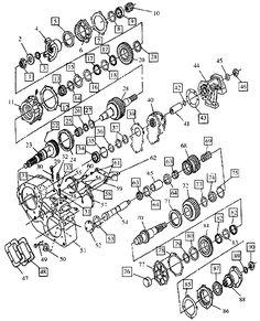 4l80e parts blow up diagram keith kraft ls engine street rods 4L80E Transmission Wiring Diagram new process transfer case diagram