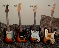 4 cool Japanese guitars from the '60's