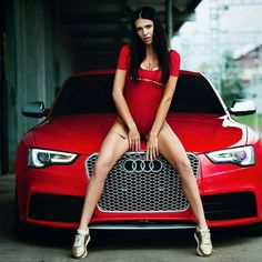 Auto Girls, Car Girls, Red Audi, Audi Rs5, Car Covers, Top Cars, Sexy Cars, Girl Photography, Lady In Red