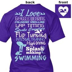 I love swimming tee Swimming World, I Love Swimming, Swimming Gear, Swimming Diving, Swimming Outfit, Swimming Rules, Swim Mom, Competitive Swimming, Synchronized Swimming