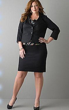 Plus size office wear