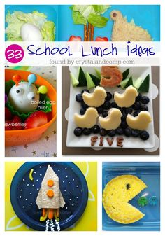 33 school lunch ideas your kids will love! Lunch Box Bento, Lunch Snacks, Work Lunches, School Lunches, Healthy Lunches, Easy Meals For Kids, Toddler Meals, Kids Meals, Cute Food
