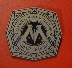 custom ministry of magic auror's training badge harry #potter auror wizard #1 from $14.99