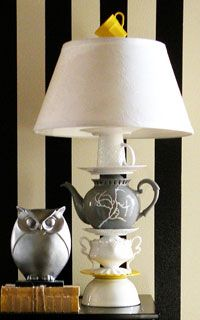 Anthropologie Teapot Lamp redo- Crafting with the Stars...I would love to make this!