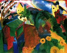 Garden in Murnau Wassily Kandinsky - 1910
