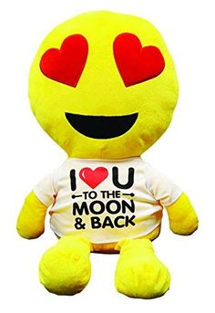 I 'Heart U to the Moon and Back Giant Emoji Pillow