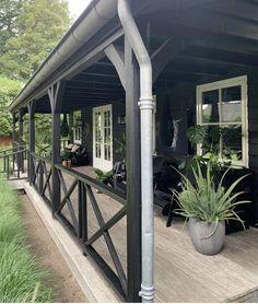 Outside Living, Outdoor Living, Outdoor Patios, Outdoor Rooms, Brick Cladding, House On Stilts, Farmhouse Garden, Exterior Makeover, House With Porch