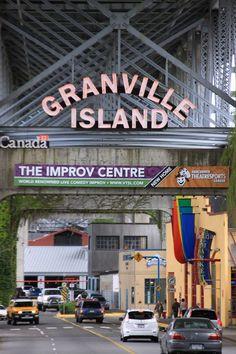 Granville Island, Vancouver B.C. Canada, Puedes comprar lo mejor y comer en pleno invierno con manta y estufas, Bien.