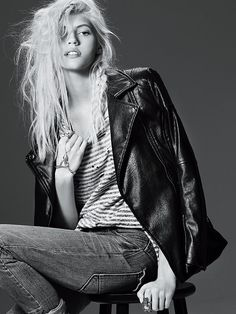 Free People Longing for Vegan Leather Jacket at Free People Clothing Boutique model: Devon Windsor